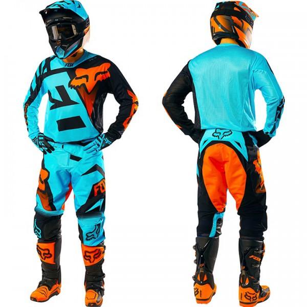 tenue fox racing 360 shiv aqua 2016 planet pocket topaz motorcycles valence. Black Bedroom Furniture Sets. Home Design Ideas