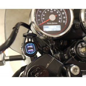 KIT PRISE DOUBLE USB ROYAL ENFIELD TWIN 650
